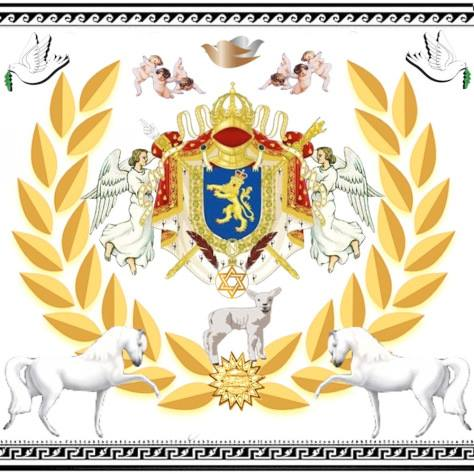 Coat of Arms of God's Holy Spirit and the Son of God World Crown